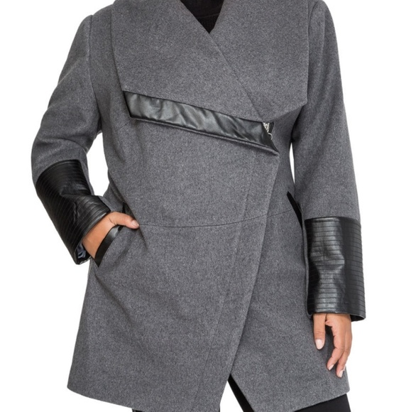 68939591fc Ashley Stewart Jackets   Blazers - Ashley Stewart OVERSIZED COLLAR WOOL  WINTER COAT